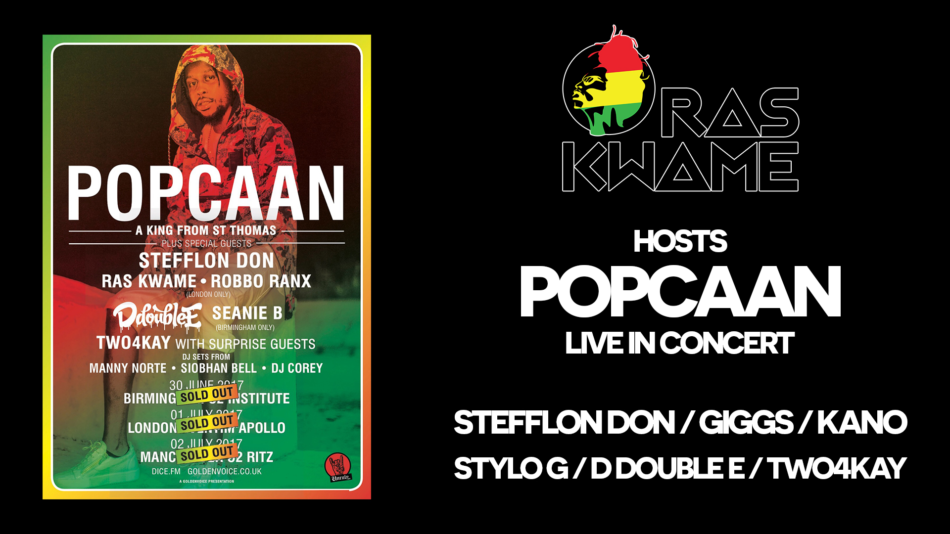 Ras Kwame hosts Popcaan's sold out London show!