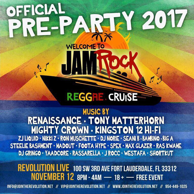 Welcome To Jamrock: Official Pre-Party 2017