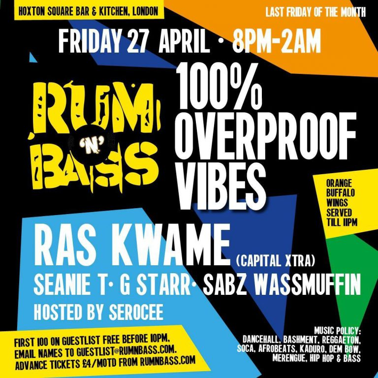 Catch Ras at Rum 'N' Bass this Friday!